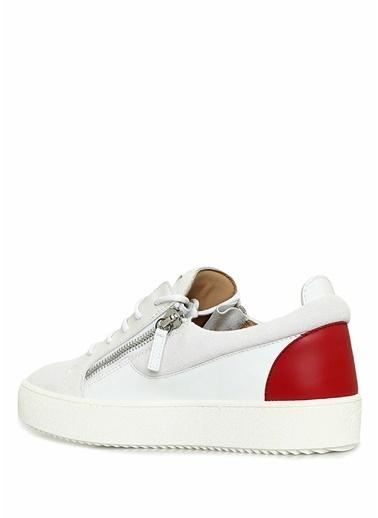 Giuseppe Zanotti Giuseppe Zanotti Frankie  Logolu Erkek Deri Sneaker 101602082 Beyaz